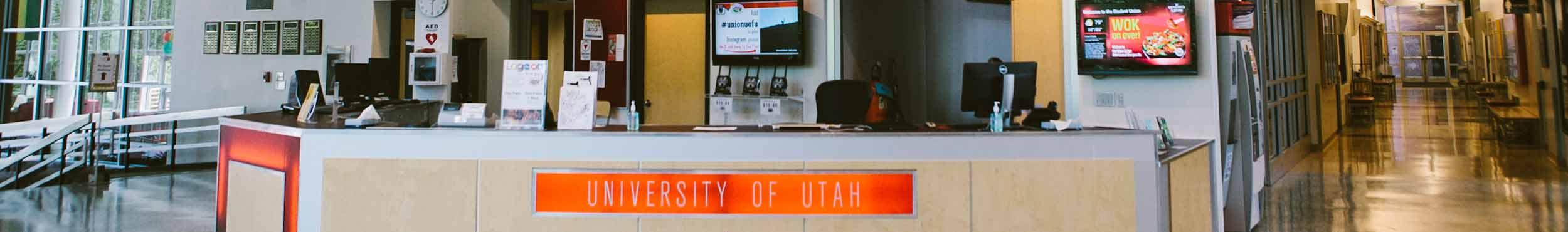 A photo of the Union Services Desk.