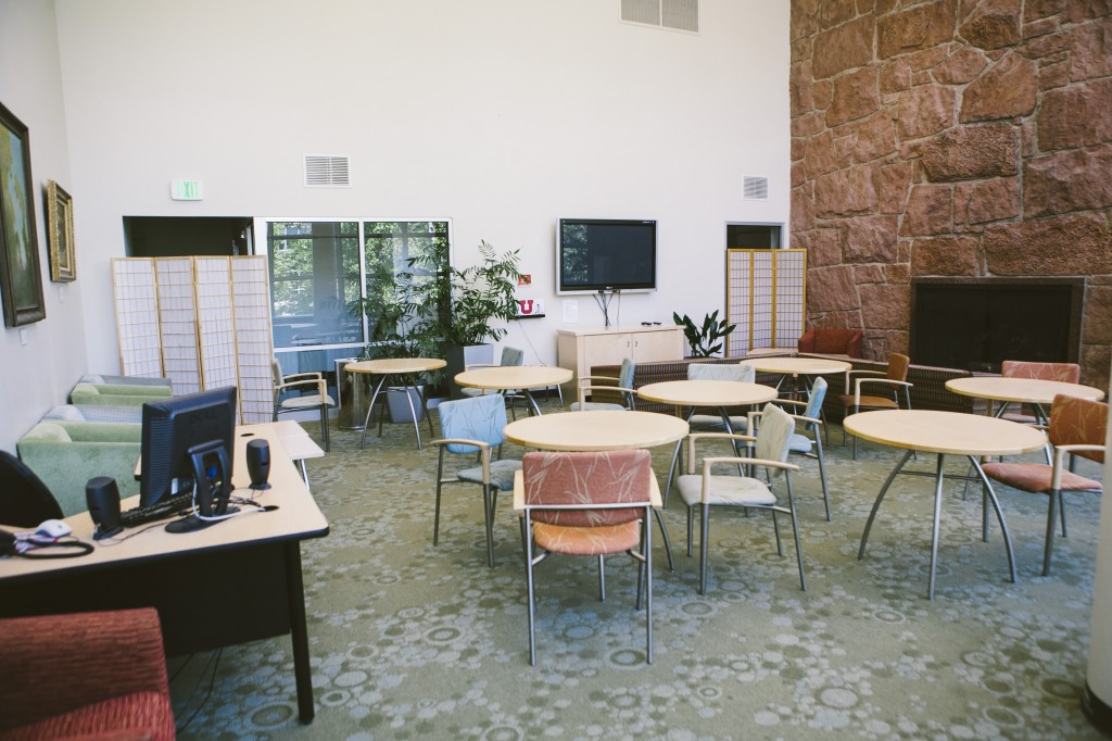 A photo of the student lounge.