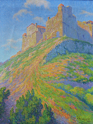 Painting: Citadel du Mont Alban by A. B. Wright