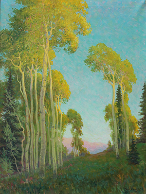 Painting: Landscape by A.B. Wright