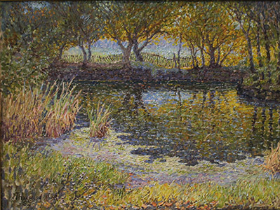 Painting: Near Sugarhouse by J. T. Harwood