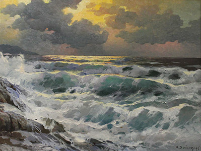 Painting: Ocean Scene by A. Dzigurski