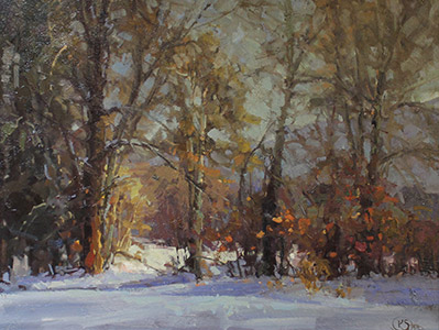 Painting: Winter Landscape by Kathryn Stats
