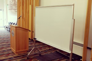 A photo of a White Board
