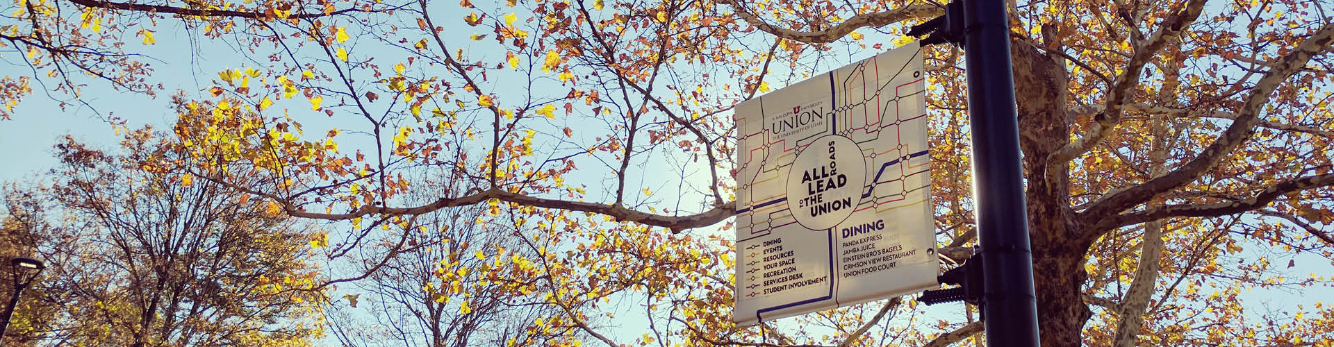 Reserve lamppost banners on campus!
