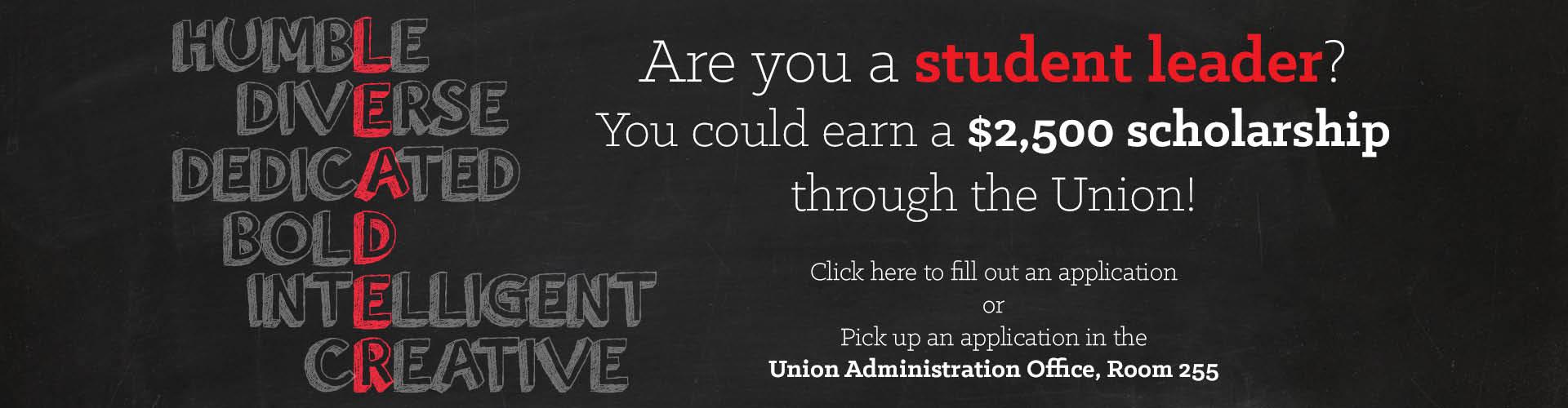 Earn a $2,500 scholarship!