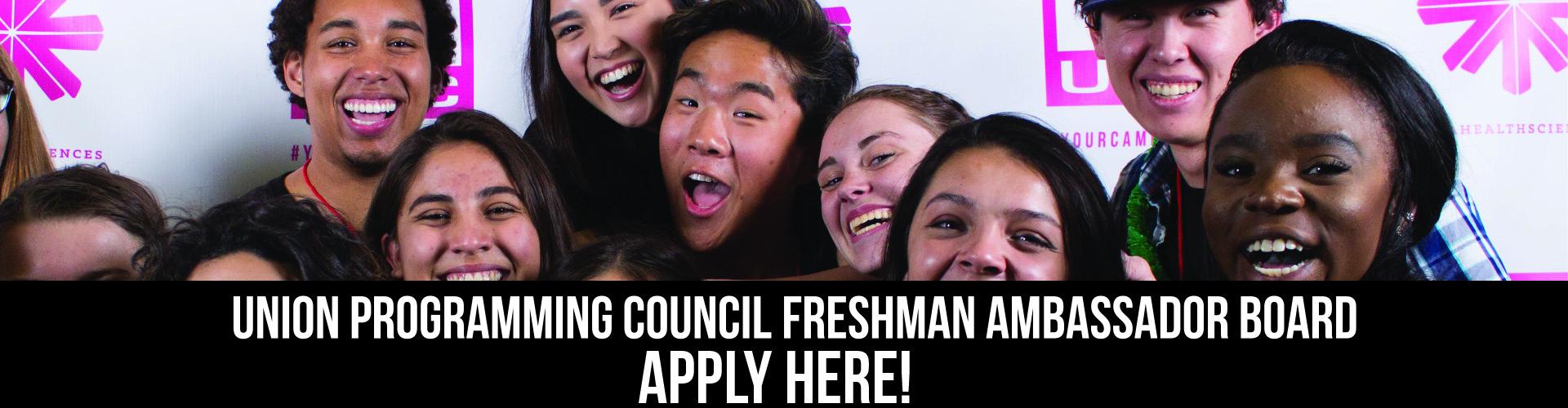 Freshman Ambassador Boards Applications